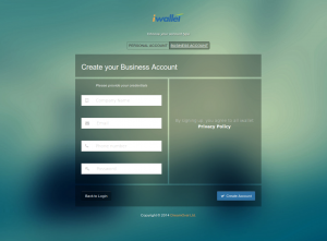 iwallet signup page