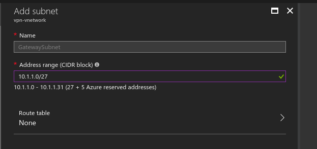How to establish a Route Based VPN with Azure VPN (no BGP) | My