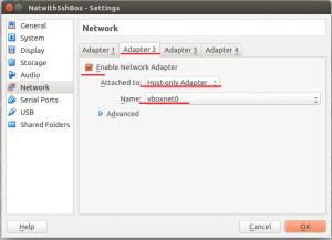 hostonly adapter for guest OS